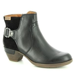 PIKOLINOS Shoes - Pikolinos Rotterdam Black Ankle Boot buckle 8, 39